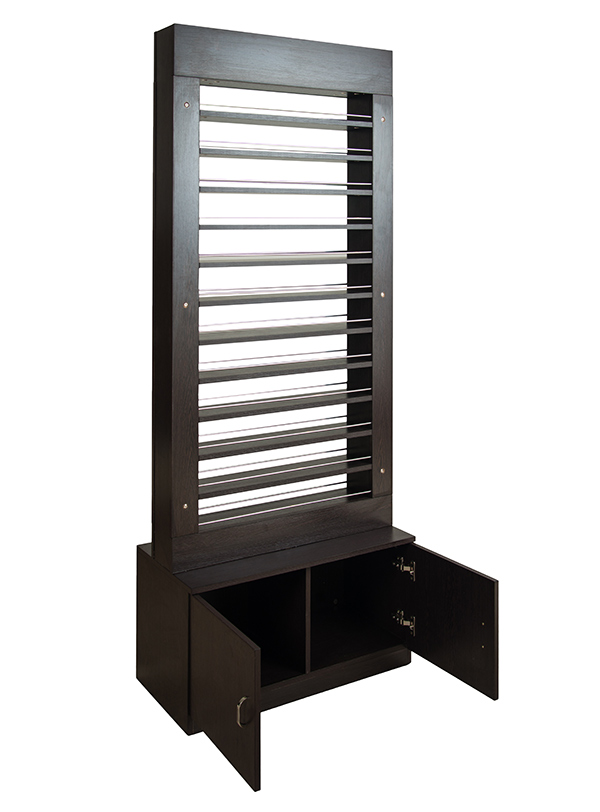 valentino beauty pure polish rack salon and spa furniture